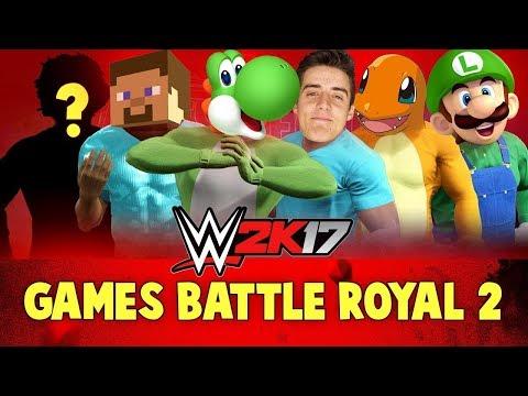 WWE 2k17 Games Battle Royal #2! With Minecraft, Pokemon Go, Denis & Yoshi!! |