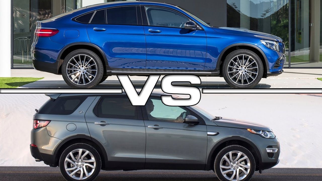 mercedes glc coupe vs land rover discovery sport road test. Black Bedroom Furniture Sets. Home Design Ideas