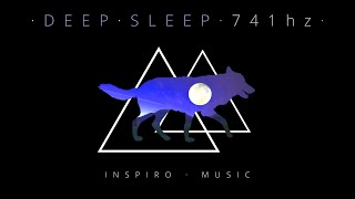 🐺Healing Sleep Music ✦ Black screen ✦ Removes Toxins and Negativity ✦ fall asleep fast✦delta waves🐺
