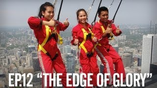 Afraid of heights? Walk on the edge of the CN Tower! - Face my fear of Heights - Ep.12
