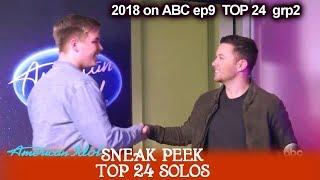 Sneak Peek CALEB LEE HUTCHINSON Meets SCOTTY McCREERY  TOP 24 Solos American Idol 2018 April-15-2018