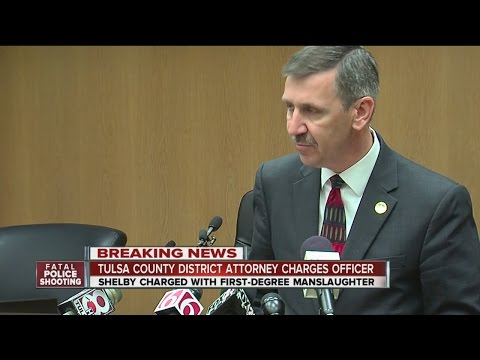 Tulsa County District Attorney Charges Officer Shelby