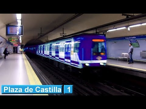 Plaza de Castilla L1 : Metro de Madrid ( Serie 2000A )