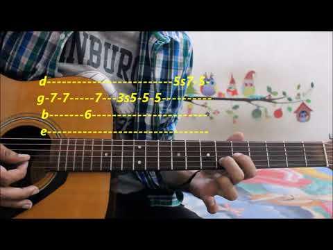 Easiest Romantic Theme For Beginners Leads/ Tabs (Pehla Nasha ) - Hindi guitar easy lessons