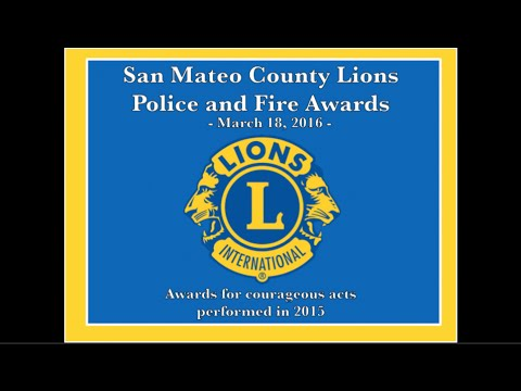 Peninsula Council of Lions - Police and Fire Awards 2016