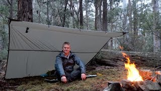Solo rainy wild camp in the Australian Bush