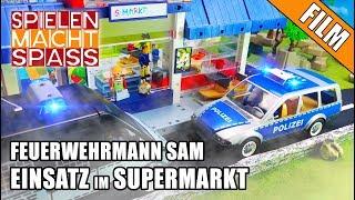 Feuerwehrmann Sam | SEK EINSATZ im Supermarkt | Berti Brechstange | Playmobil Kinderfilm auf deutsch