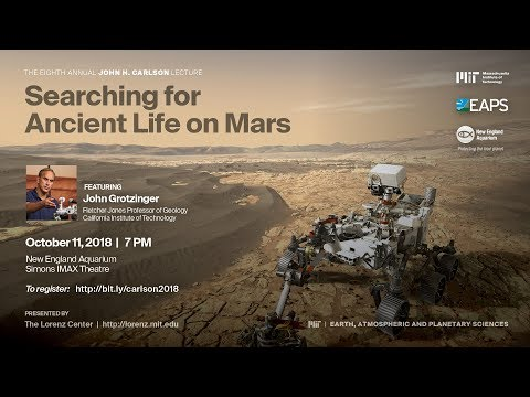 Eighth Annual John Carlson Lecture -- Searching for Ancient Life on Mars