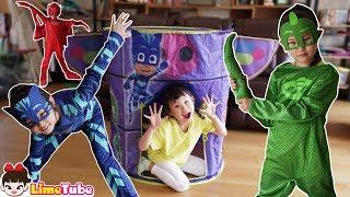 [20분] 라임의 파자마 삼총사로 변신 장난감 놀이 종합편 | pj masks full episodes | LimeTube toy review