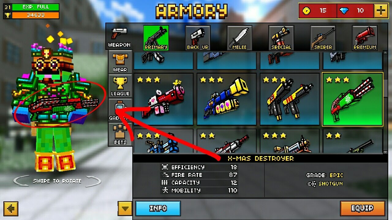 Pixel Gun 3d New Christmas Update 11 2 0 New Weapons