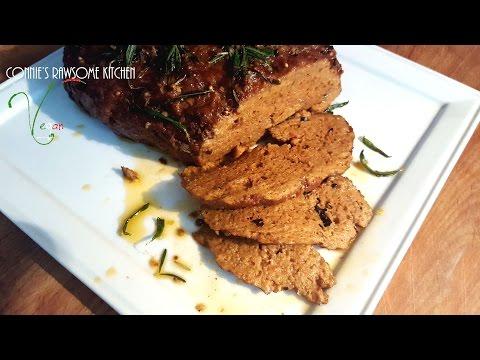 VEGAN STEAK ROAST WITH A SPECIAL SURPRISING INGREDIENT | Connie's RAWsome kitchen seitan meat