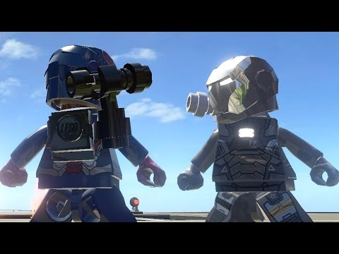 IRON PATRIOT VS WAR MACHINE - LEGO Marvel Super heroes ...