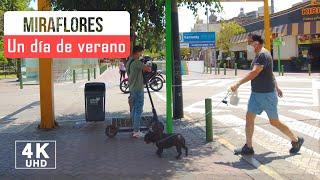 Un paseo por Miraflores Lima Peru 2021, calle Los Pinos 4k, Lima Peru walk 4k