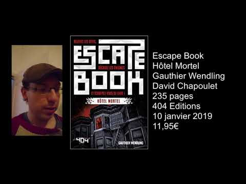 Escape Book Hôtel Mortel Avis