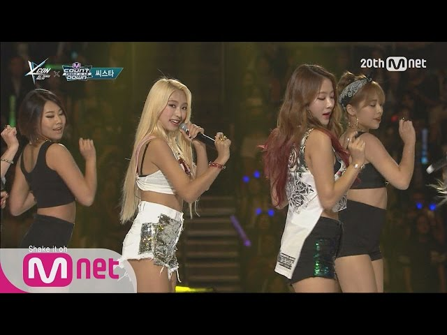 SISTAR(씨스타) - 'SHAKE IT' M COUNTDOWN - FEELZ in LA 150813 EP.437