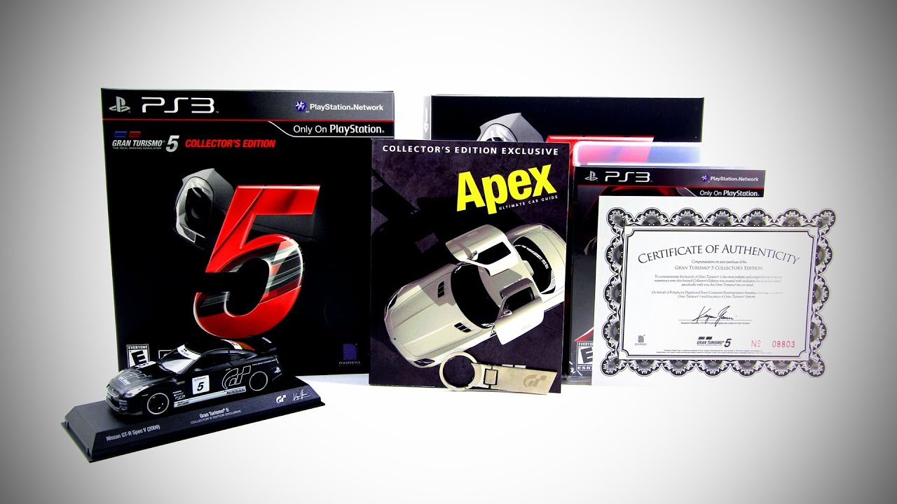 Gran Turismo 5 Collectors Edition Unboxing
