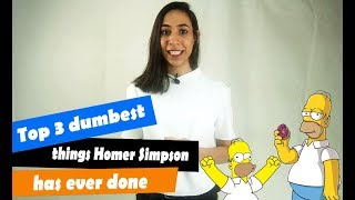 top 3 dumbest things homer simpson has ever don thumbnail