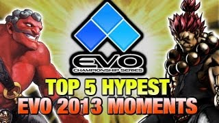 EVOLUTION 2013 - TOP 5 HYPE MOMENTS (Fighting Game World Championship)(Stream footage provided by http://www.youtube.com/teamspooky and http://www.youtube.com/iplaywinner Our First Online Warrior/Assist Me T-Shirt Available ..., 2013-07-17T22:51:01.000Z)