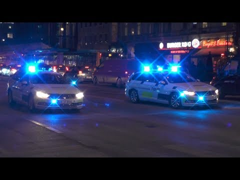 PROTEST in Copenhagen! Lots of police on the streets