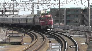 【HD】EF81+24系25形「日本海」大津京通過