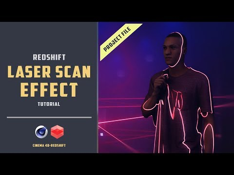 Redshift laser scan effect [REQUESTED TUTORIAL][CINEMA 4D]