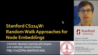 CS224W: Machine Learning with Graphs | 2021 | Lecture 3.2-Random Walk Approaches for Node Embeddings