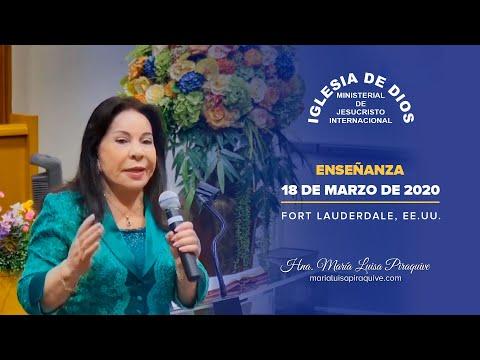 Enseñanza Del 18 De Marzo De 2020 - Hna María Luisa Piraquive En Fort Lauderdale, USA - IDMJI