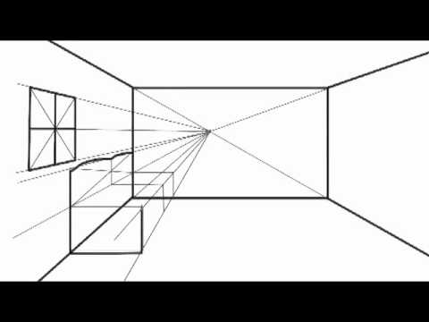 how to draw in one point perspective option2 youtube. Black Bedroom Furniture Sets. Home Design Ideas