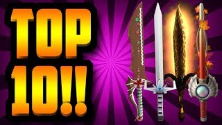 TOP 10 ASSASSIN KNIVES OF ALL TIME!!! (ROBLOX)