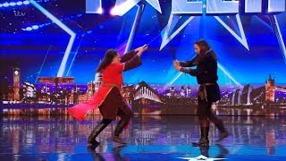 Britain\'s Got Talent 2018 Laura & Rich LARPers Full Audition S12E01