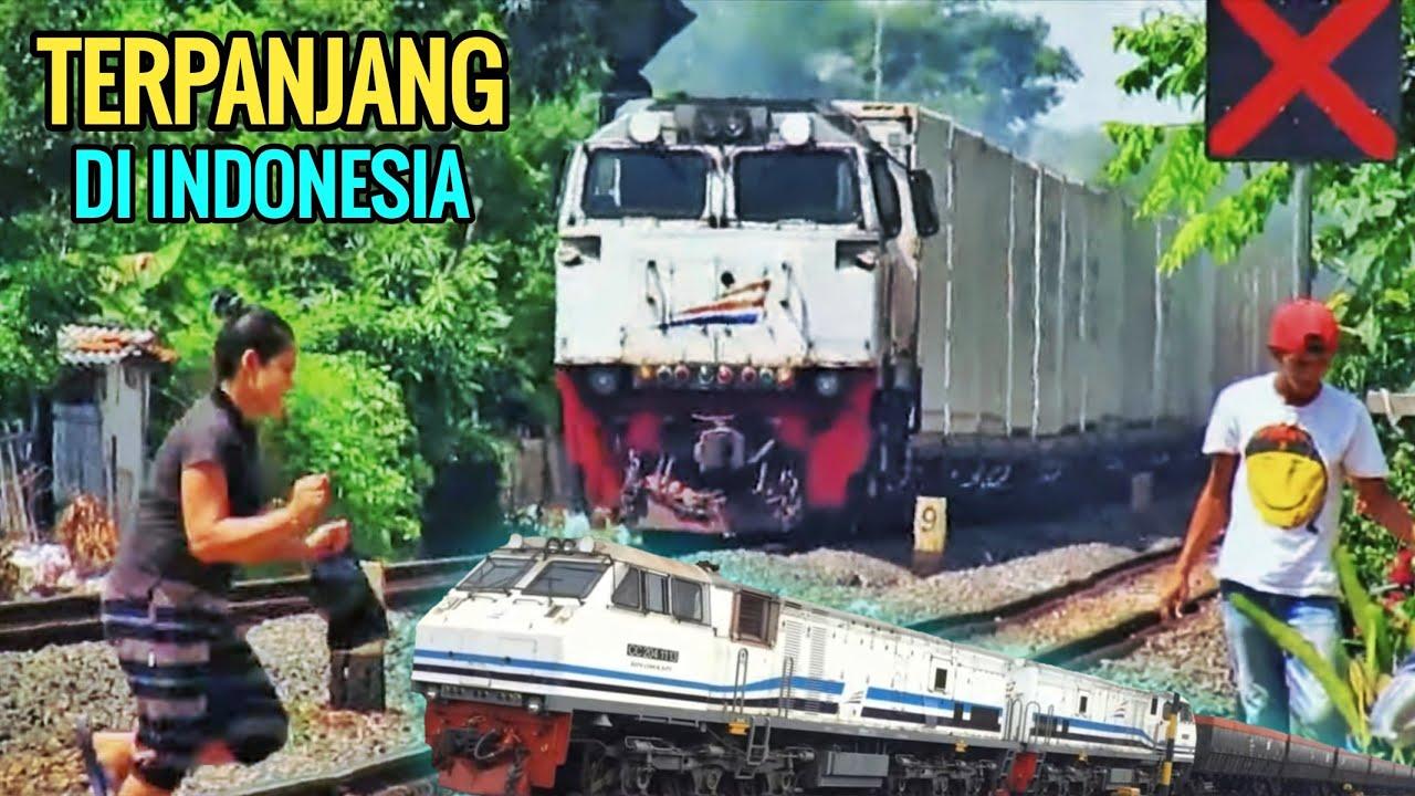 TOP 6 - KERETA API TERPANJANG di Indonesia - Longest Train in Indonesia