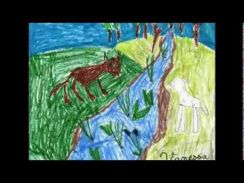 Le loup et l 39 agneau youtube - Dessin loup et agneau ...