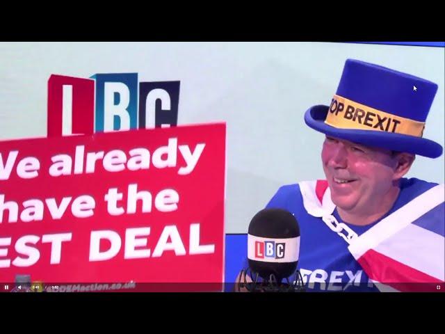Steve Bray interviewed by James O'Brien, LBC (30 Nov 2018)
