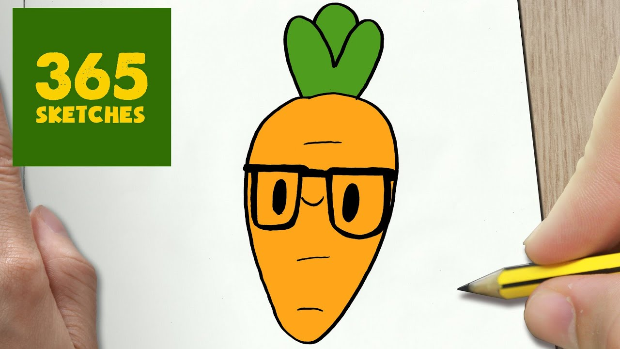 how to draw a carrot cute easy step by step drawing lessons for