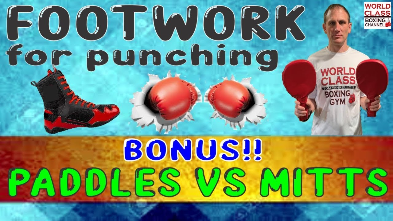 How To Move Your Feet to Set Up Punches. PLUS Which is Better PADDLES versus PADS?