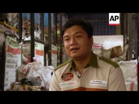 Trash banks in Indonesia help solve waste problem