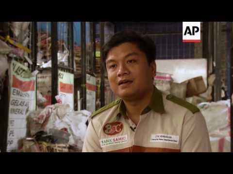 Trash banks in Indonesia help solve waste problem