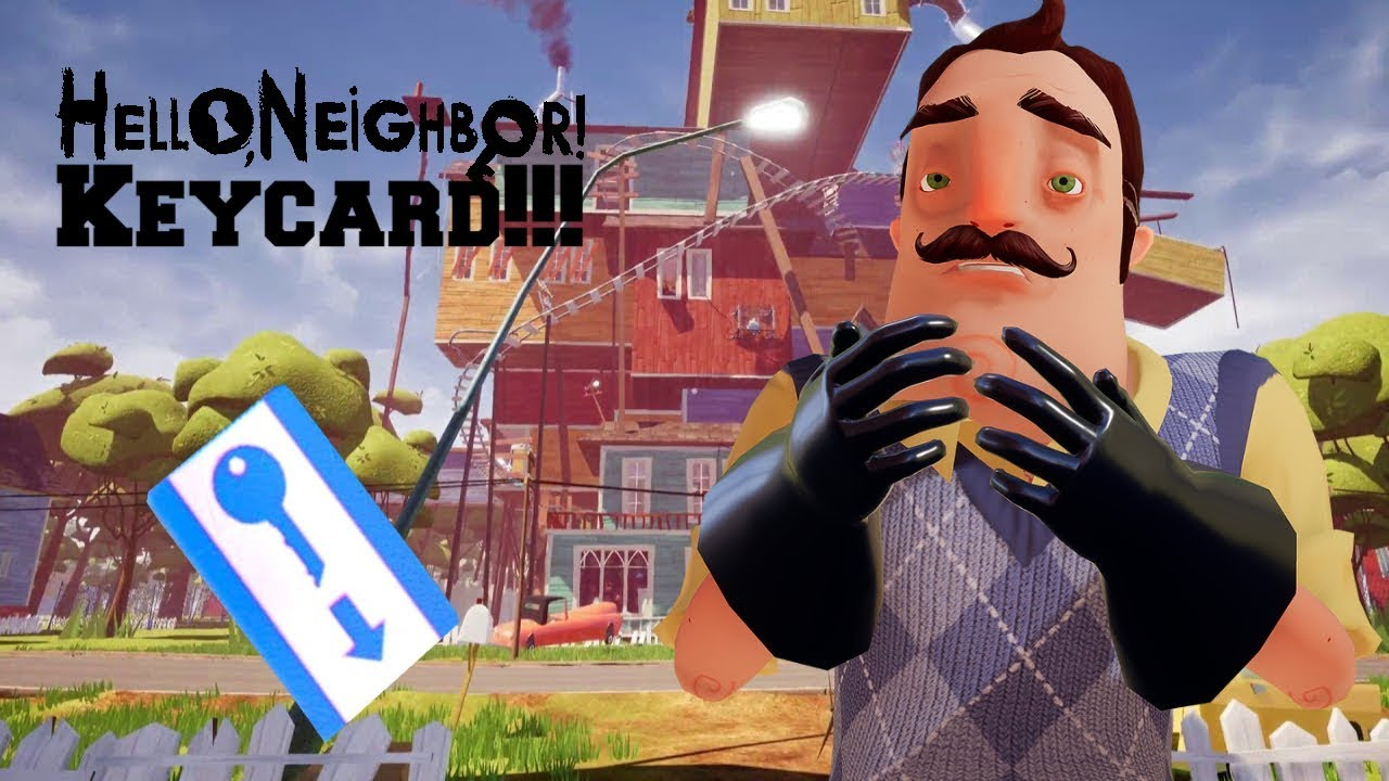 Hello Neighbor: GETTING THE KEY CARD AND DOUBLE JUMP UNLOCKED!!! (Act 3) -  Hello Neighbor Gameplay