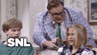 After their cleaning lady finds pot in the house, parents (Phil Hartman, Julia Sweeney) hire motivational speaker Matt Foley (Chris Farley) to talk to their teens ...
