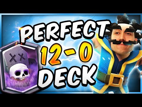 UNDEFEATED 12-0 GRAVEYARD DECK! Perfect 12 Win Deck  — Clash Royale