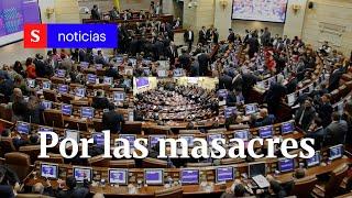El 'agarrón' en el Congreso por las masacres en Colombia | Semana Tv