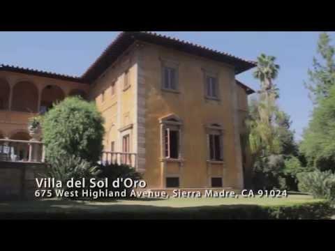 Villa del Sol d'Oro Wedding Venue   Sierra Madre, CA