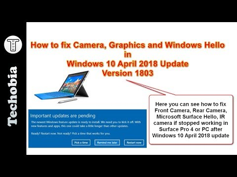 Fix to Camera, IR, Windows Hello, Graphics in Surface Pro 4
