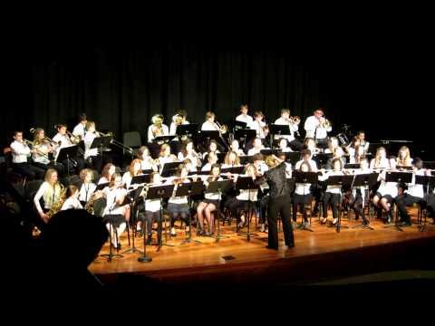 Hood River Middle School Winter Concert 2013 - 7th Grade Band - Chesapeake Seranade