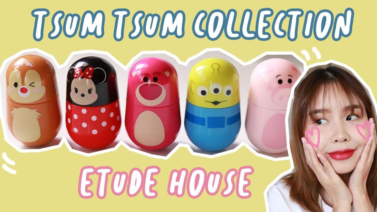 Tsum Tsum Etude House Jelly Mousse Tint ลิปอะไรน่ารักเกินบรรยาย!! สวอชให้ดูครบ 5 สี!!!