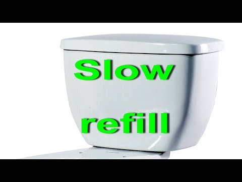 Toilet Tank And Bowl Slow To Refill. How To FIX Slow Fill Up Water After Flushing Your Toilet.