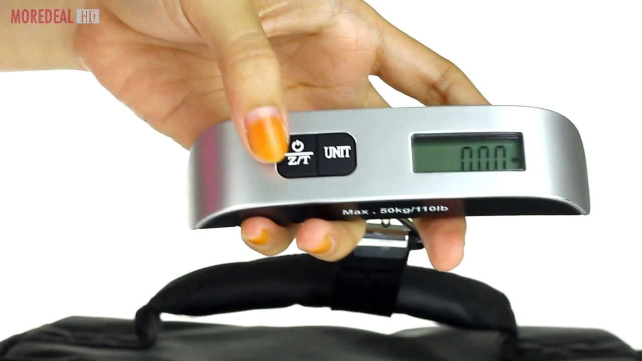Moredeal.my - Digital Luggage Scales with LCD Display - YouTube