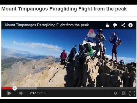 Mount Timpanogos Paragliding Flight from the peak