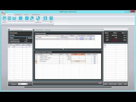 WebFinance - Bogføringsskabeloner