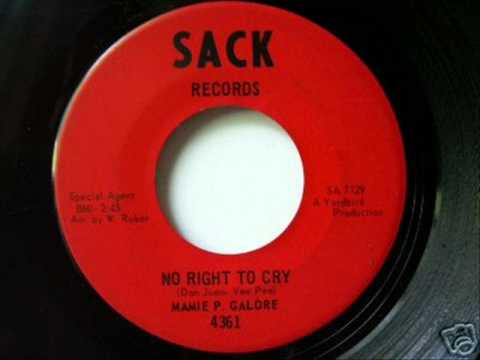 Mamie P Galore - No Right To Cry